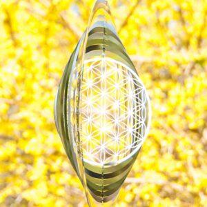 Berk, Blume des Lebens, Meditation, Wind- und Klangspiele Berk Blume des Lebens Mobile 25,4 cm aus Edelstahl - EN-031-L - Meine Spiritualität