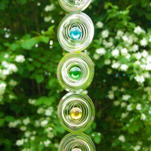 Berk, Meditation, Wind- und Klangspiele Berk Chakra Mobile 76 cm aus Edelstahl mit 7 Chakra-Glaskugeln - EN-034 - Meine Spiritualität.de