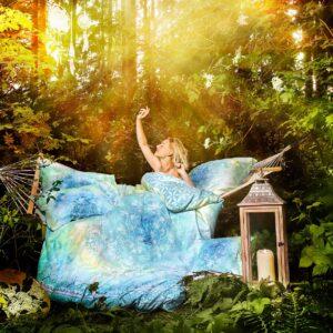 Berk, Blume des Lebens, Neuheiten, Textilien, Wohnen und Leben Berk Bettbezug Faszination blue dream 135/200 cm inkl. Kissen 80/80 cm - EN-128 - Meine Spiritualität