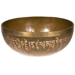 Klangschale mit Abbildung des Medizinbuddhas auf dem Boden der Innenseite - Klangschale Medizin Buddha - Meine Spiritualität - Bild 2