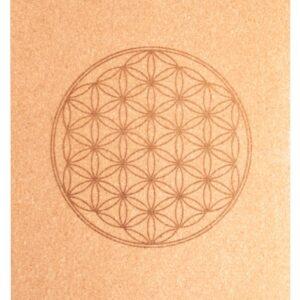 Körper und Seele, Yoga Berk Yoga-Matte aus Kork mit Blume des Lebens - YO-099 - Meine Spiritualität