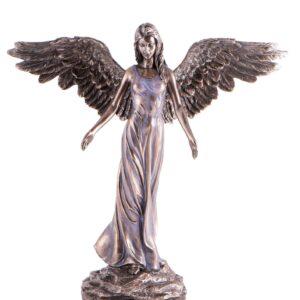 Engel, Statuen Berk Friedensengel Bronze Kunstharz, 30cm - ZW-077-BR - Meine Spiritualität