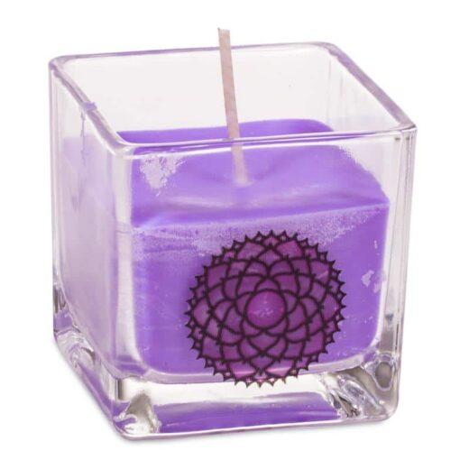 Duftprodukte, Kerzen + Kerzenhalter, Phoenix Ökologische Rapswachs-Duftkerze 7. Chakra Patchouli, Weihrauch - Meine Spiritualität.de