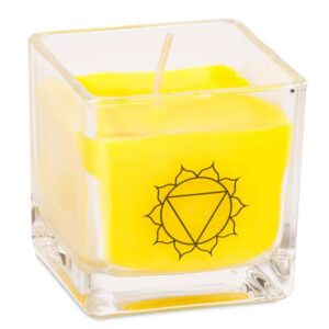 Duftprodukte, Kerzen + Kerzenhalter, Phoenix Ökologische Rapswachs-Duftkerze 3. Chakra Bergamotte, Grapefruit - Meine Spiritualität