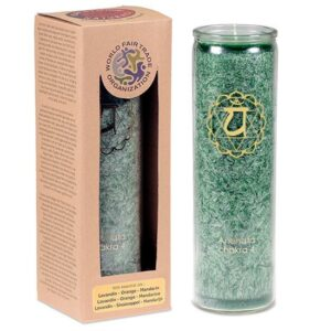 Duftprodukte, Kerzen + Kerzenhalter, Phoenix Duftkerze Stearin 4. Chakra Lavandin, Orange, Mandarine - Meine Spiritualität