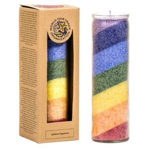 Kerzen + Kerzenhalter, Phoenix Stearinkerze Regenbogen duftneutral - Meine Spiritualität