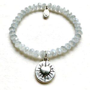 Armbänder, Engel, Geschenke, Meditation, Schmuck, Spiritualität I FEEL GOOD – Gelassenheit – Kristall-Armband – versilbert - Ich gehe meinen Weg - Meine Spiritualität