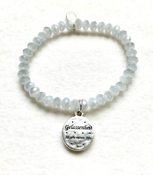 Armbänder, Engel, Geschenke, Meditation, Schmuck, Spiritualität I FEEL GOOD – Gelassenheit – Kristall-Armband – versilbert - Meine Spiritualität - Ich gehe meinen Weg