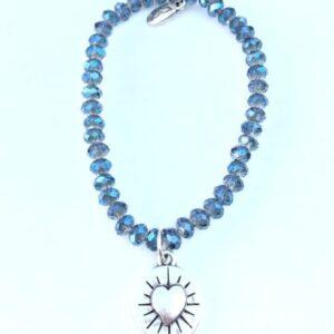 Armbänder, Engel, Geschenke, Meditation, Schmuck, Spiritualität I FEEL GOOD – Gelassenheit – Kristall-Armband shiny blue (Nr.XII) – versilbert - Meine Spiritualität