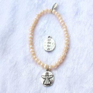 Armbänder, Engel, Geschenke, Meditation, Schmuck, Spiritualität I FEEL GOOD – ich bin bei dir – Kristall-Armband (I) – versilbert - Meine Spiritualität