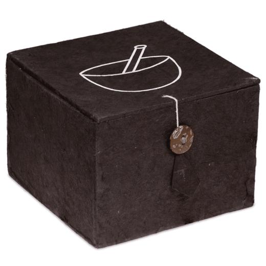 """Klangschale """"OM"""" Geschenkset schwarz - Meditation - Meine Spiritualität - schwarze Verpackung - NE0293"""