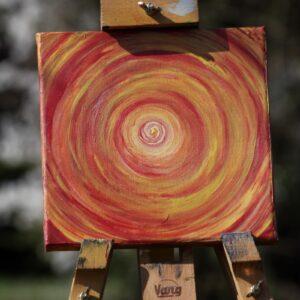 """Energie-Bild – Energie-Spirale """"Entspannung"""" in den Farben gelb-orange-rot - Meine Spiritualität"""