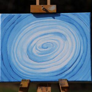 """Energie-Bild – Energie-Spirale """"Kraft und Harmonie"""" in den Farben blau-weiß"""