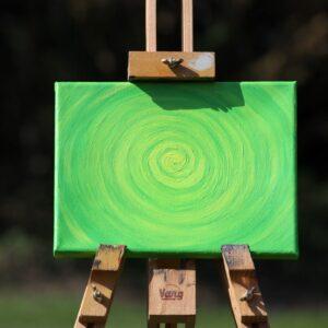 Energie-Bild – Energie-Spirale grün/gelb - Meine Spiritualität