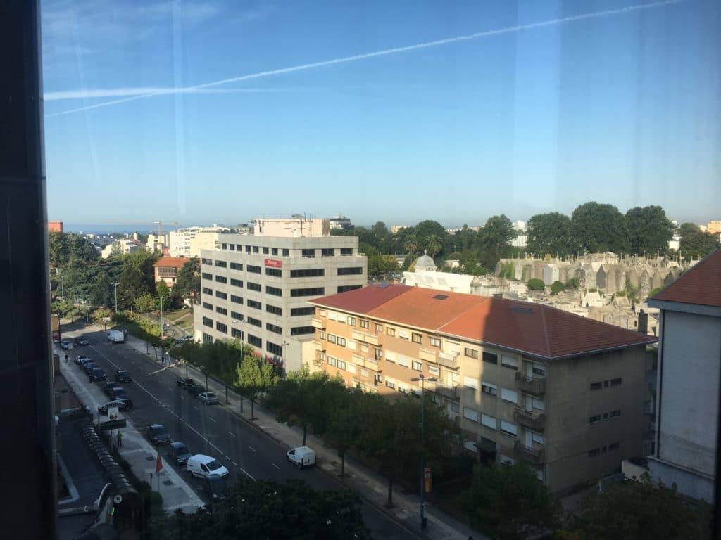 Jakobsweg - MeineSpiritualitaet.de - Blick aus unserem Hotelzimmer über Porto.