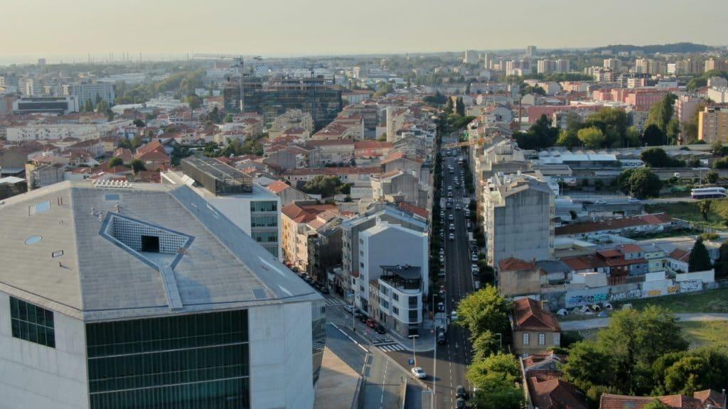 Jakobsweg - Meine-Spiritualitaet.de - Porto aus Sicht des Löwen des Monumento aos Heróis da Guerra Peninsular