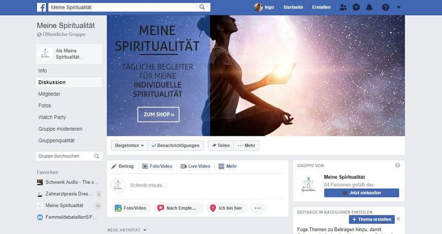 Facebook-Gruppe Meine Spiritualität