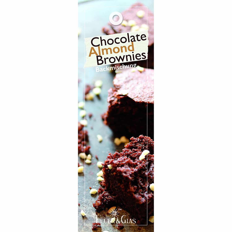 FeuerundGlas – Feuer & Glas – Gewürzmischung – Grillen – Geschenk – Meine-Spiritualitaet.de – Männergeschenk – Chocolate Almond Brownies - Backmischung – Schokoladen Mandel Brownies