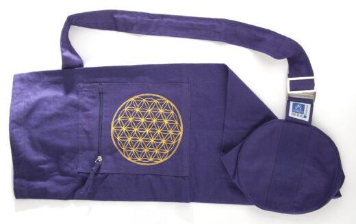 Berk-Yogatasche - Blume des Lebens - Meditation - Yogazubehör - Yoga - Entspannung - Geschenk - Meine-Spiritualitaet.de