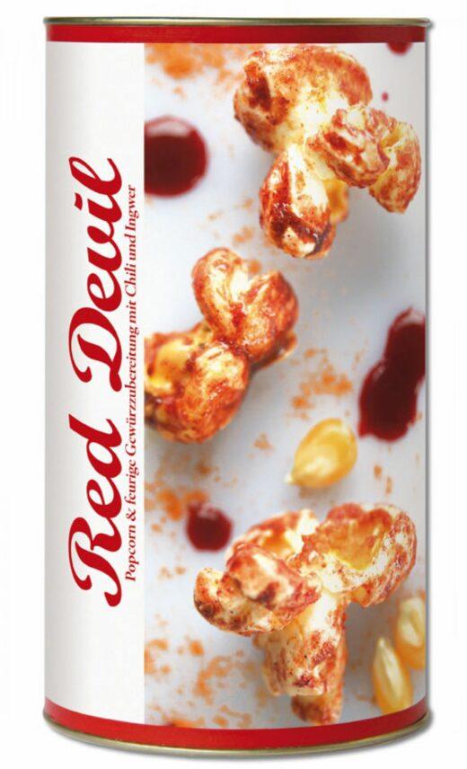 Gourmet Popcorn – Red Devil – Party-Snack -gesalzenes Karamell - Feuer und Glas – Feuer & Glas - meine-spiritualitaet.de – Gourmet – Grillen - Meine Spiritualität - Geschenk – Kochen – Männergeschenk – regionale Herstellung – Vegetarisch – Italienisch Kochen – Risotto