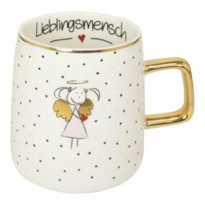 Meine-Spiritualitaet.de – Mea Living – Geschenke – Tasse von Mea Living – Schutzengel-Tasse – tolle Geschenkidee – Geschenk für Jedermann - Lieblingsmensch– besondere Geschenke – Lustige Sprüche – TAS-001 - rosa