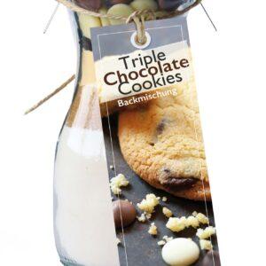 Feuer und Glas – Feuer & Glas – Meine-Spiritualitaet.de – Gourmet Backmischung – Mini – Cookies backen – Geschenk – Triple Chocolate Cookies