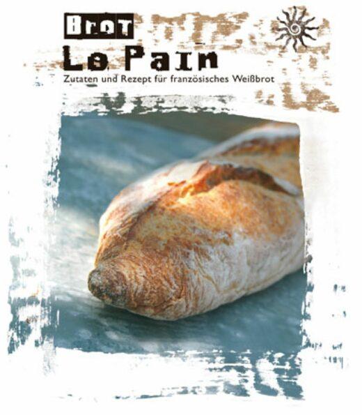 Meine-Spiritualitaet.de – FeuerundGlas – Le Pain – Backmischung für französisches Weißbrot - Gourmetbackmischung – Geschenke unter 10 € - Geschenk – Backmischung – Backen – Verschenken – Feuer & Glas